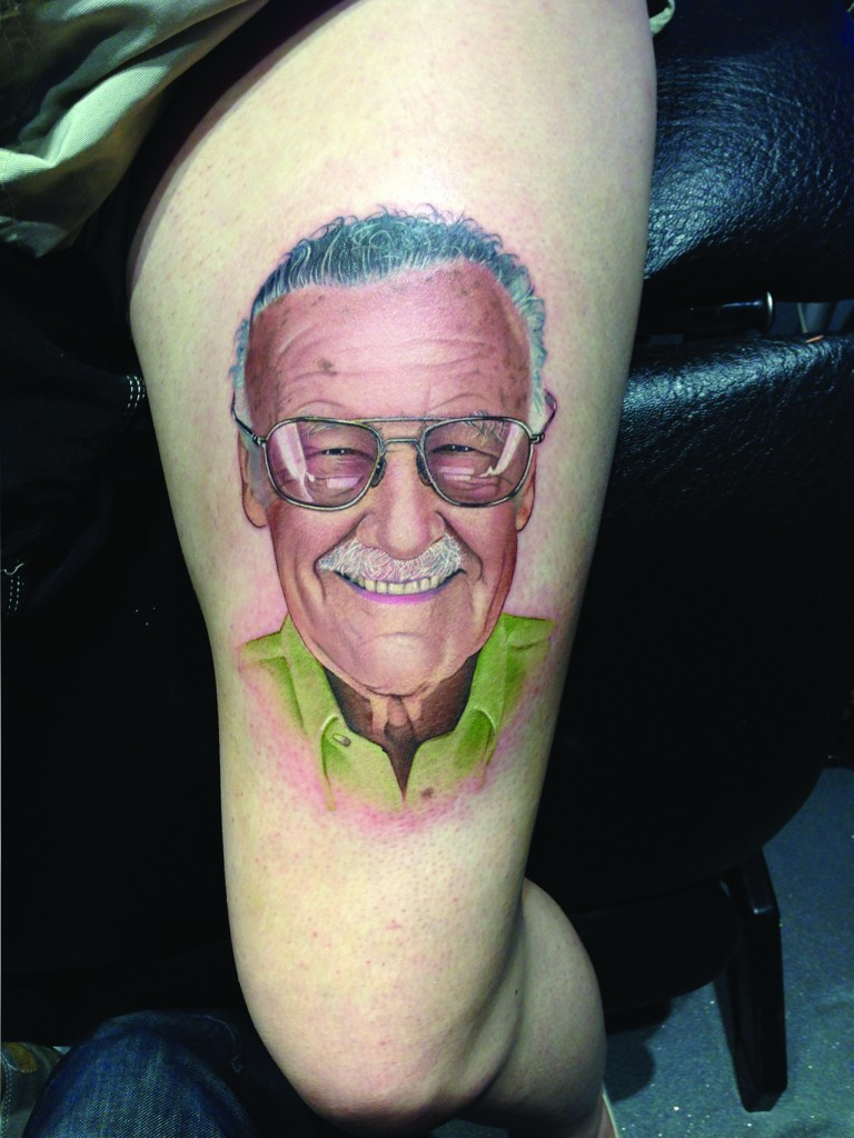 David Corden Portrait Tattoo Stan Lee
