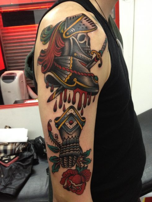 El Bara knight tattoo