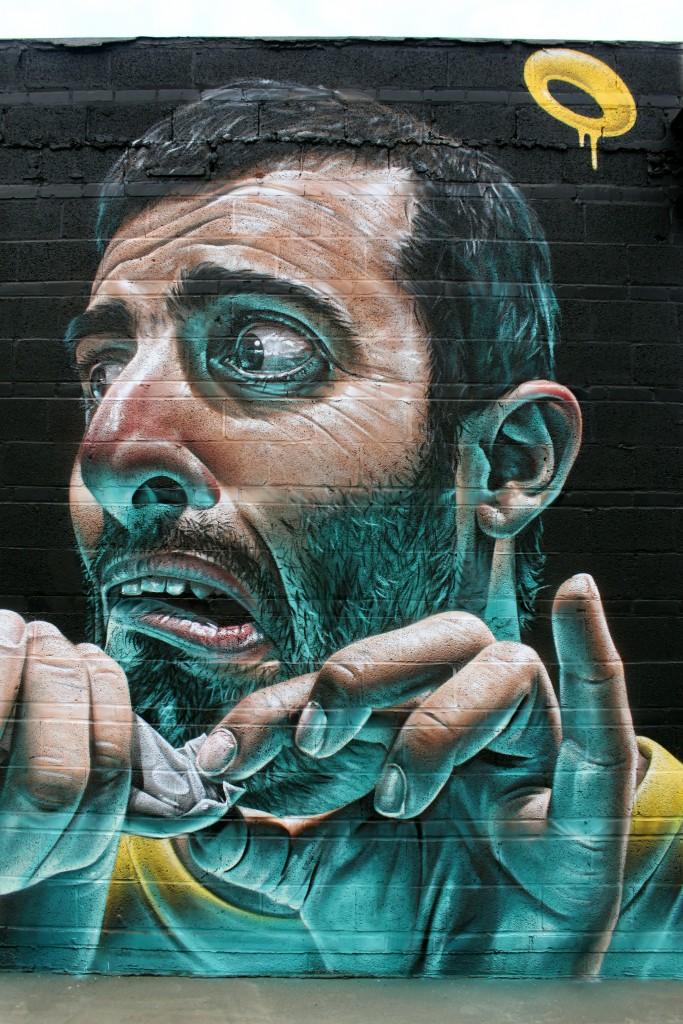 Realistic graffiti by Smug One