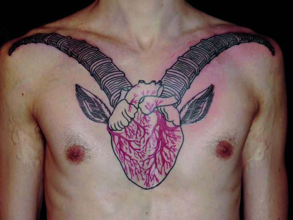 Heart tattoo by Duncan X