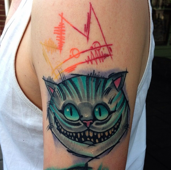 Cheshire cat by Mike Stockings