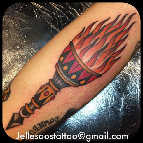 Jelle Soos chalice tattoo
