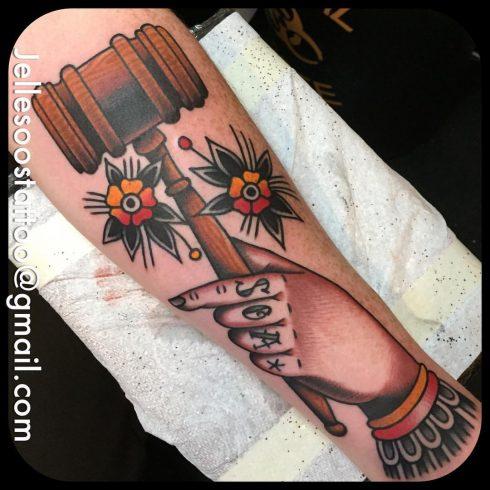 Jelle Soos hammer tattoo