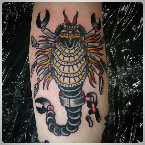 Pedro Soos scorpion tattoo
