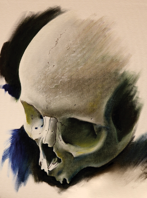 David Corden Immortal Ink skull painting