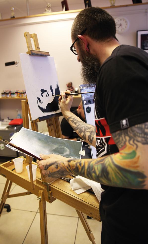 Painting Night Tutorial Immortal Ink 1
