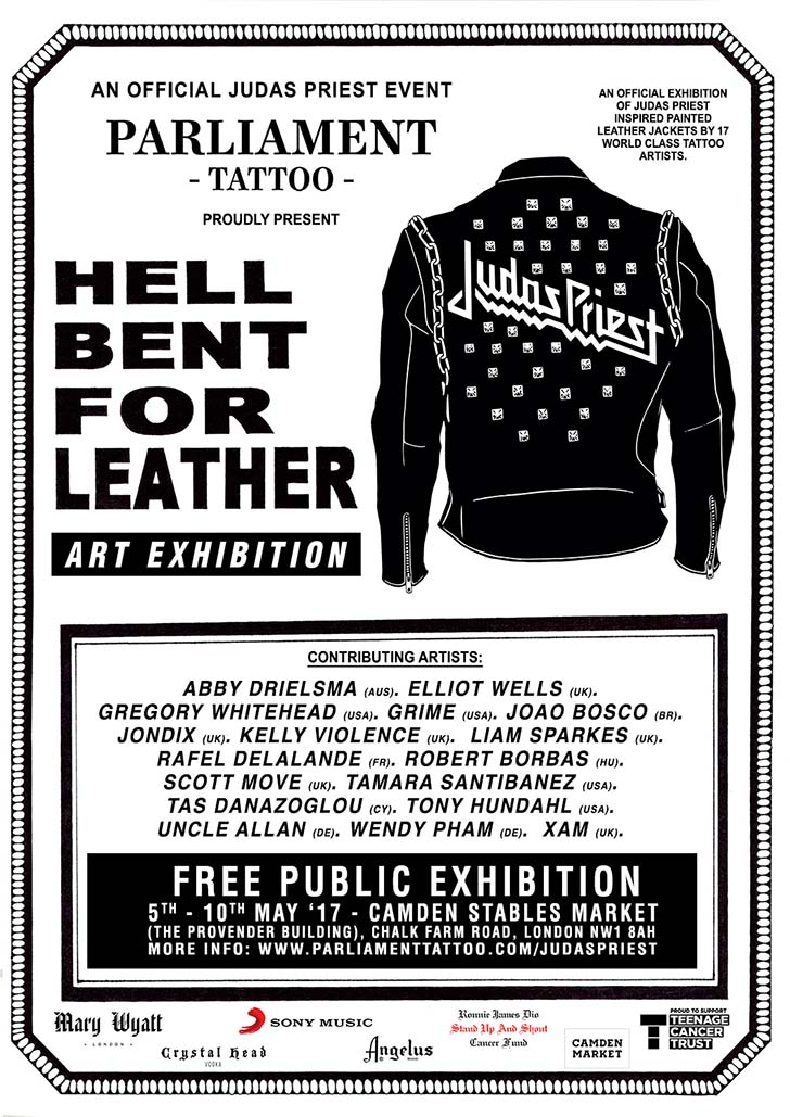 hell bent for leather art exhibition poster