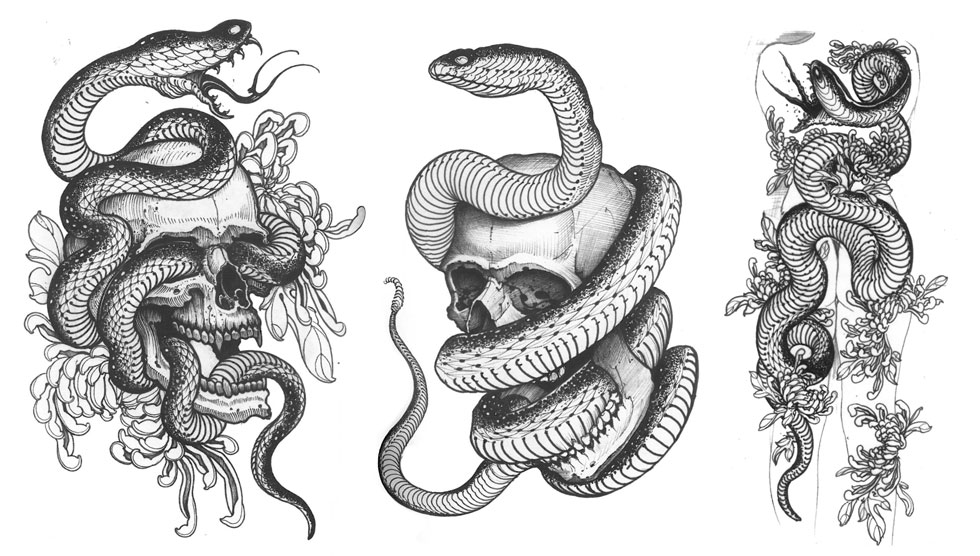 Skulls Snakes & the Flower of Death | Nine Mag | Online